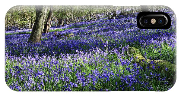 IPhone Case featuring the digital art Bluebells by Julian Perry