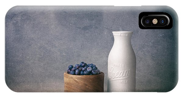 Blue Berry iPhone Case - Blueberries And Cream by Tom Mc Nemar