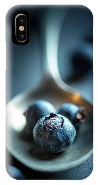 Blueberry iPhone Case - Blueberries Macro Still Life by Johan Swanepoel
