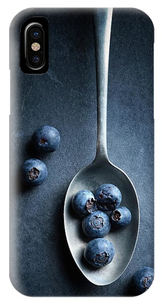 Blueberry iPhone Case - Blueberries On Spoon Still Life by Johan Swanepoel