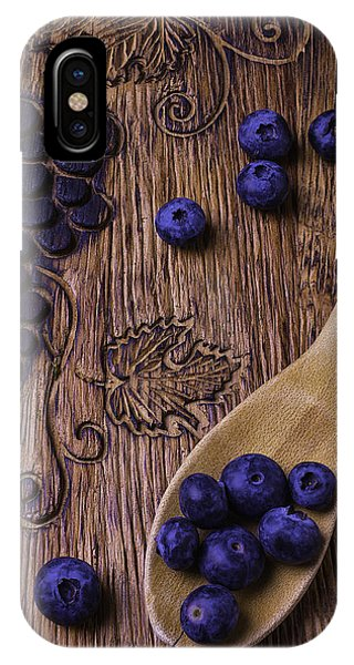 Blue Berry iPhone Case - Blueberries With Carvings  by Garry Gay