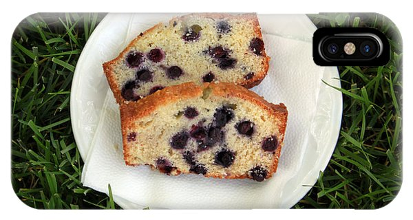 Blueberry iPhone Case - Blueberry Bread by Linda Woods