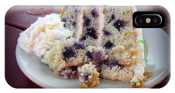 Blueberry Cake With Lemon Icing IPhone Case