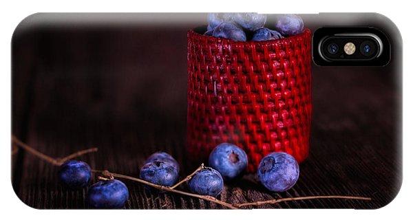Blue Berry iPhone Case - Blueberry Delight by Tom Mc Nemar