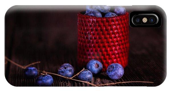Blueberry iPhone Case - Blueberry Delight by Tom Mc Nemar
