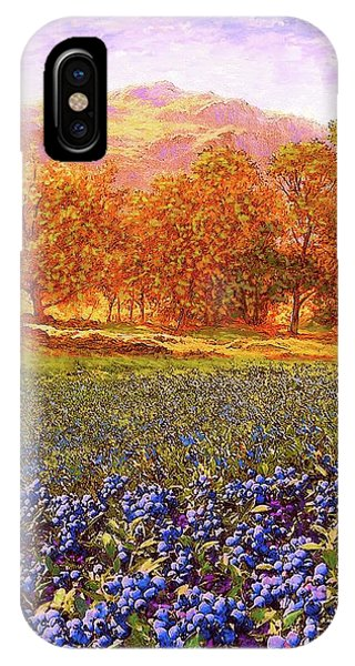 Foliage iPhone Case - Blueberry Fields Season Of Blueberries by Jane Small