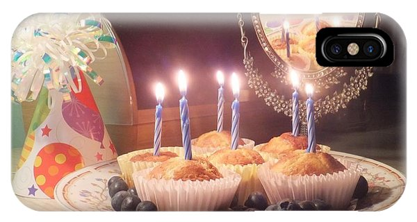 Blueberry Muffin Birthday IPhone Case