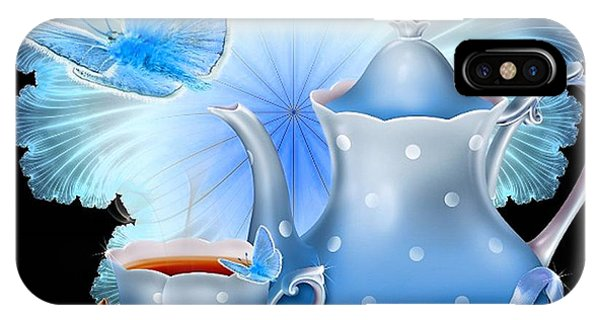 Blue Berry iPhone Case - Blueberry Tea by G Berry