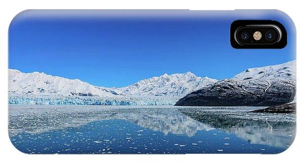 Bluebird Day At Hubbard Glacier IPhone Case