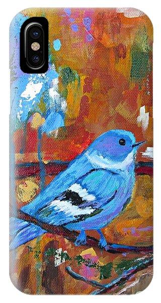 Bluebird In Autumn IPhone Case