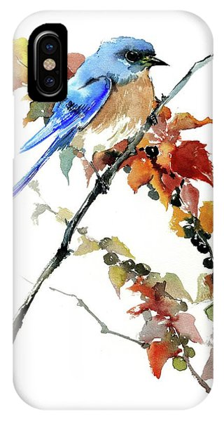 Bluebird In The Fall IPhone Case