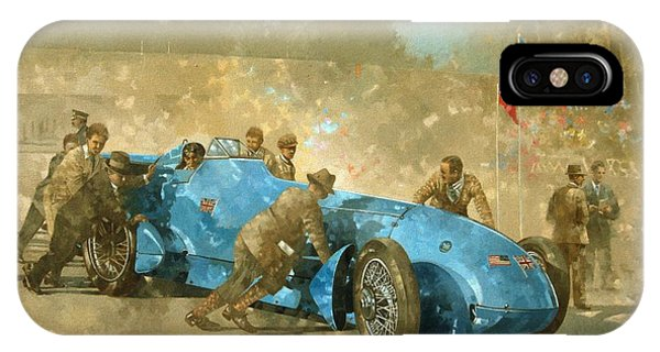 Car iPhone X Case - Bluebird by Peter Miller