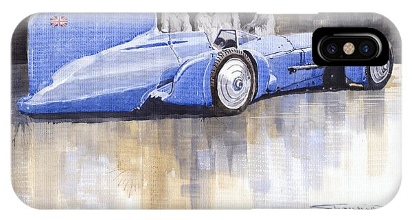 Bluebird iPhone Case - Bluebird World Land Speed Record Car 1931 by Yuriy Shevchuk