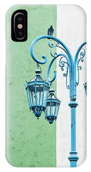 Blue,green And White IPhone Case