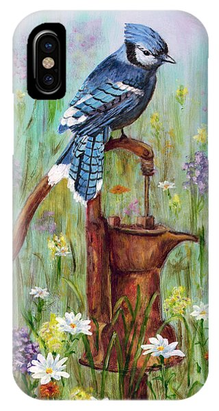 Bluejay Peaceful Perch IPhone Case