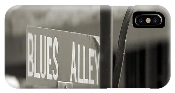 Blues Alley Street Sign IPhone Case