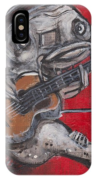 Blues Cat On Guitar IPhone Case