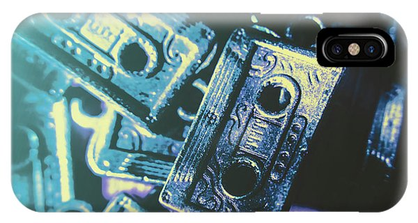 Technology iPhone Case - Blues On Cassette by Jorgo Photography - Wall Art Gallery