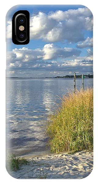 Blues Skies Of The Cape Fear River IPhone Case