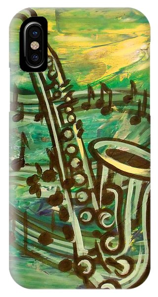Blues Solo In Green IPhone Case