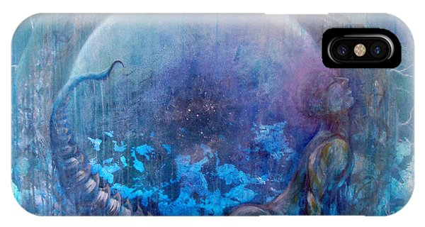 IPhone Case featuring the painting Bluestargate by Ashley Kujan