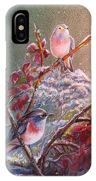 Bluethroat On The Tundra/ #3 IPhone Case