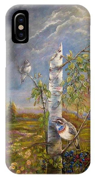 Bluethroat On The Tundra IPhone Case