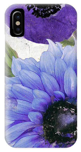 Cobalt Blue iPhone Case - Blue Then Yellow I by Mindy Sommers
