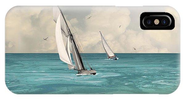 Bluewater Cruising Sailboats IPhone Case