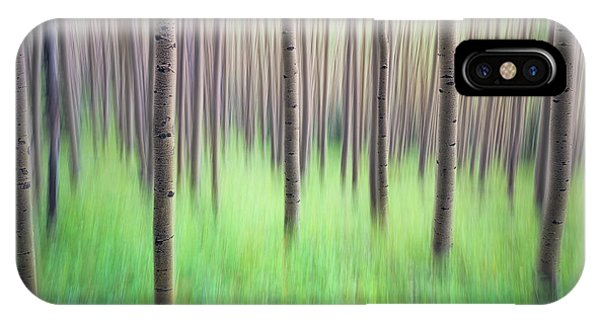 Blurred Aspen Trees IPhone Case