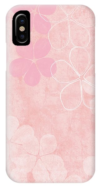 Pink iPhone Case - Blush Blossoms 1- Art By Linda Woods by Linda Woods