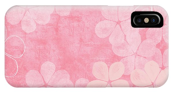Texture iPhone Case - Blush Blossoms 2- Art By Linda Woods by Linda Woods