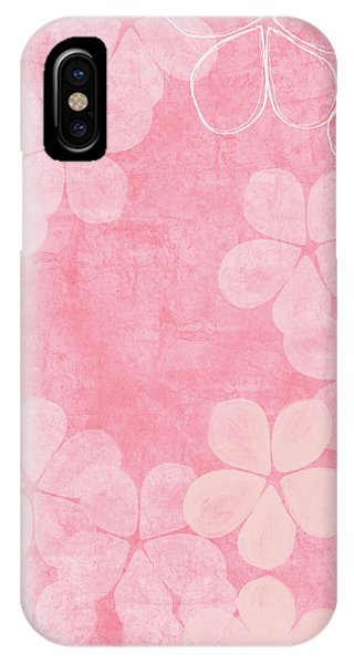Pink iPhone Case - Blush Blossoms 2- Art By Linda Woods by Linda Woods