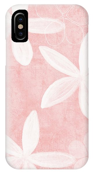 Pink iPhone Case - Blush Blossoms 3- Art By Linda Woods by Linda Woods