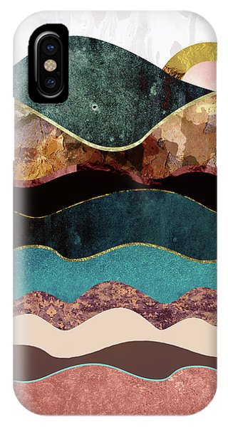 Abstract Landscape iPhone Case - Blush Moon by Katherine Smit