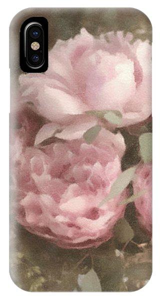 Blush Pink Peonies IPhone Case