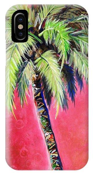 Blushing Pink Palm IPhone Case