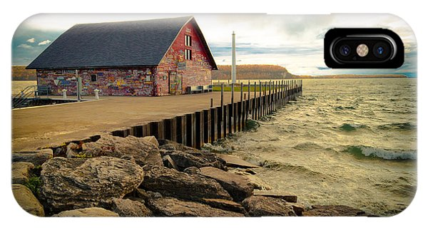 Blustery Day At Anderson Barn IPhone Case