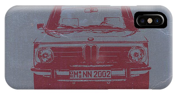 American Cars iPhone Case - Bmw 2002 by Naxart Studio
