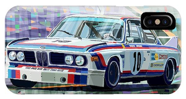 Automotive iPhone Case - Bmw 3 0 Csl 1st Spa 24hrs 1973 Quester Hezemans by Yuriy Shevchuk