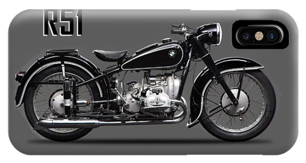 Transportation iPhone Case - The R51 Motorcycle by Mark Rogan
