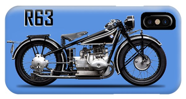 Vintage iPhone Case - Bmw R63 1929 by Mark Rogan
