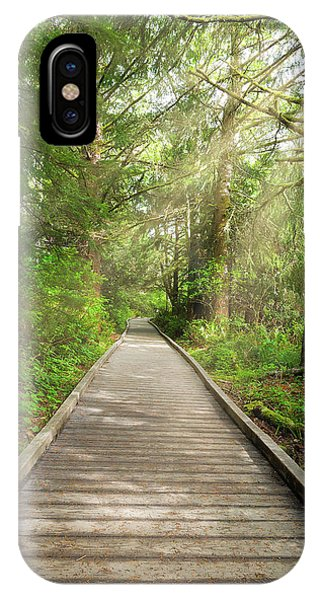 iPhone Case - Boardwalk Along Hiking Trail At Fort Clatsop by David Gn