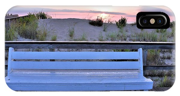 A Welcome Invitation -  The Boardwalk Bench IPhone Case