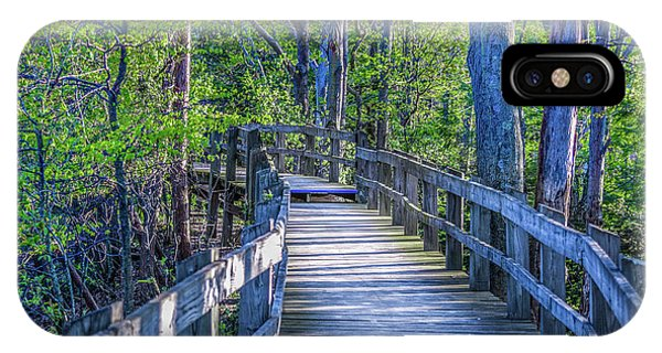 Boardwalk Going Into The Woods IPhone Case