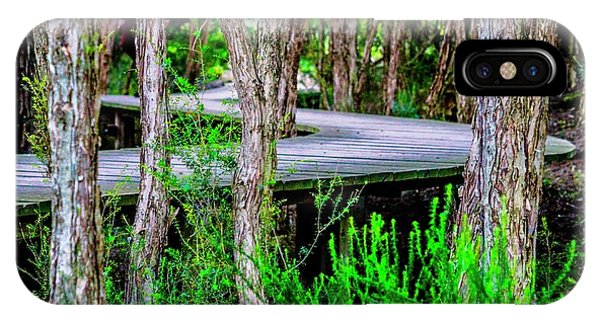 Boardwalk In The Woods IPhone Case