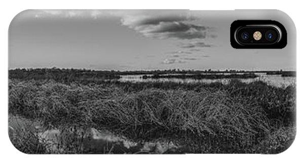 Boardwalk Panorama Monochrome IPhone Case