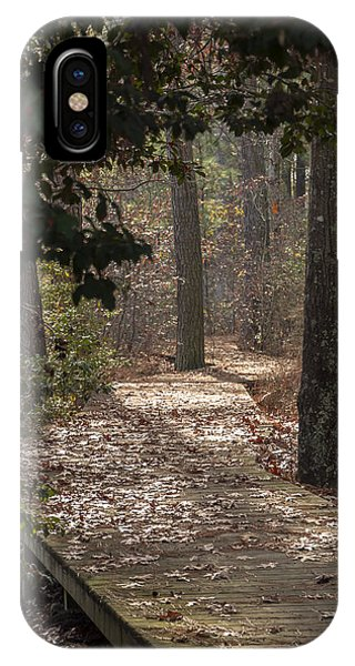 Boardwalk Through The Woods IPhone Case