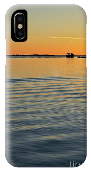 Boat And Dock At Dusk IPhone Case