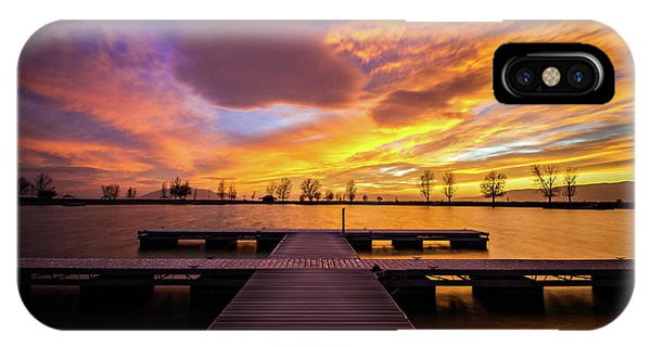 Boat Dock Sunset IPhone Case